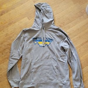 Marmot Size L Hooded Gray Sweatshirt